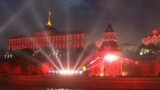 Light and pyrotechnic show dedicated to of 65th anniversary of the Great Victory